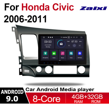 ZaiXi 10.1 Android Car Multimedia player 2 Din WIFI GPS Navigation Autoradio For Honda Civic 2006~2011 touch screen Bluetooth image