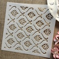 1 шт., 8*8 дюймов, цветочный фон, текстура, «сделай сам», слойные трафареты, рисунок, искусственная кожа, декоративный шаблон