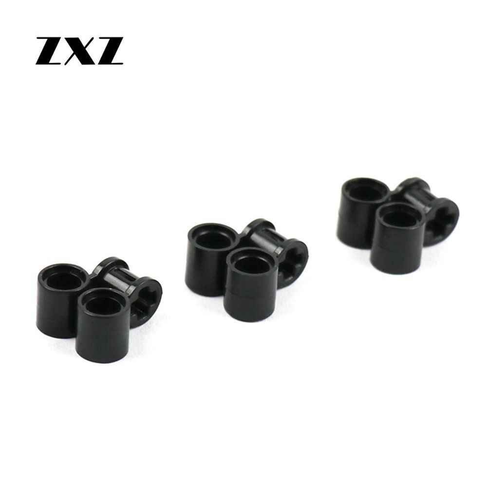 Technic Parts Cross Axle Connectors Pin Holes Perpendicular Double Building Block Part Toys Compatible with Legoes 32291