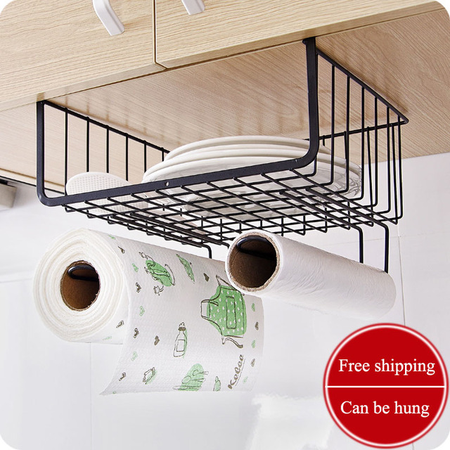 Multifunction Wardrobe Clothes Storage Rack Metal Racks Finishing Rack  Kitchen Cabinet Under The Shelf Hanging Basket