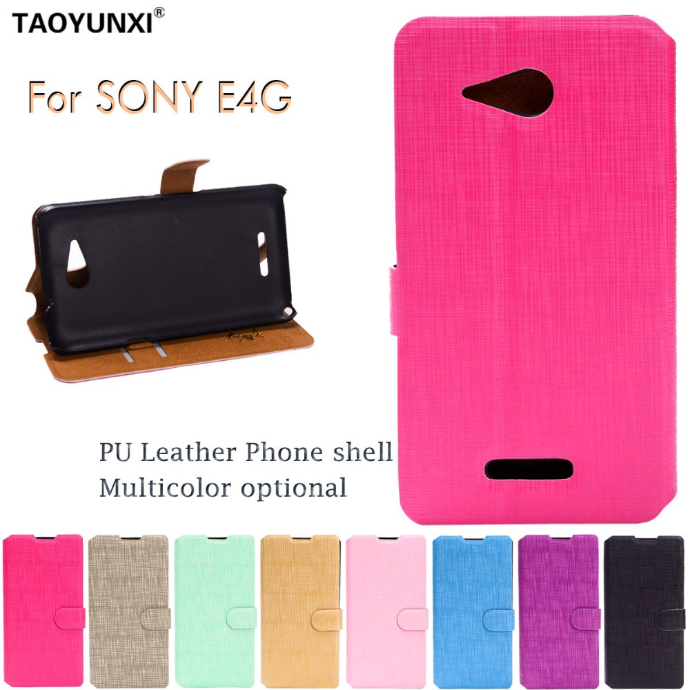 Phone Cases 3C Store Wallet PU Leather Cases For Sony Xperia E4G E2043 E2006 Dual Sim E2033 E2003 E2053 Phone Shell Flip Back Cover With Card Slot