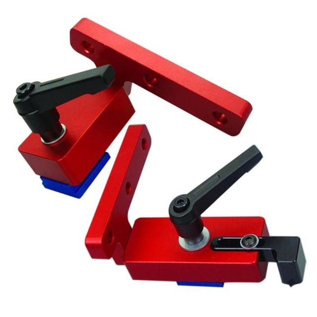Woodworking Chute Dedicated Limiter Standard T slot Miter Track Stopper Woodworking Positioning Limiter Wood Fixed Clamping Tool