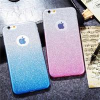 Phone Cases For Iphone 6 6s Plus 6splus Soft Tpu Glitter Gradient Color 2 In 1