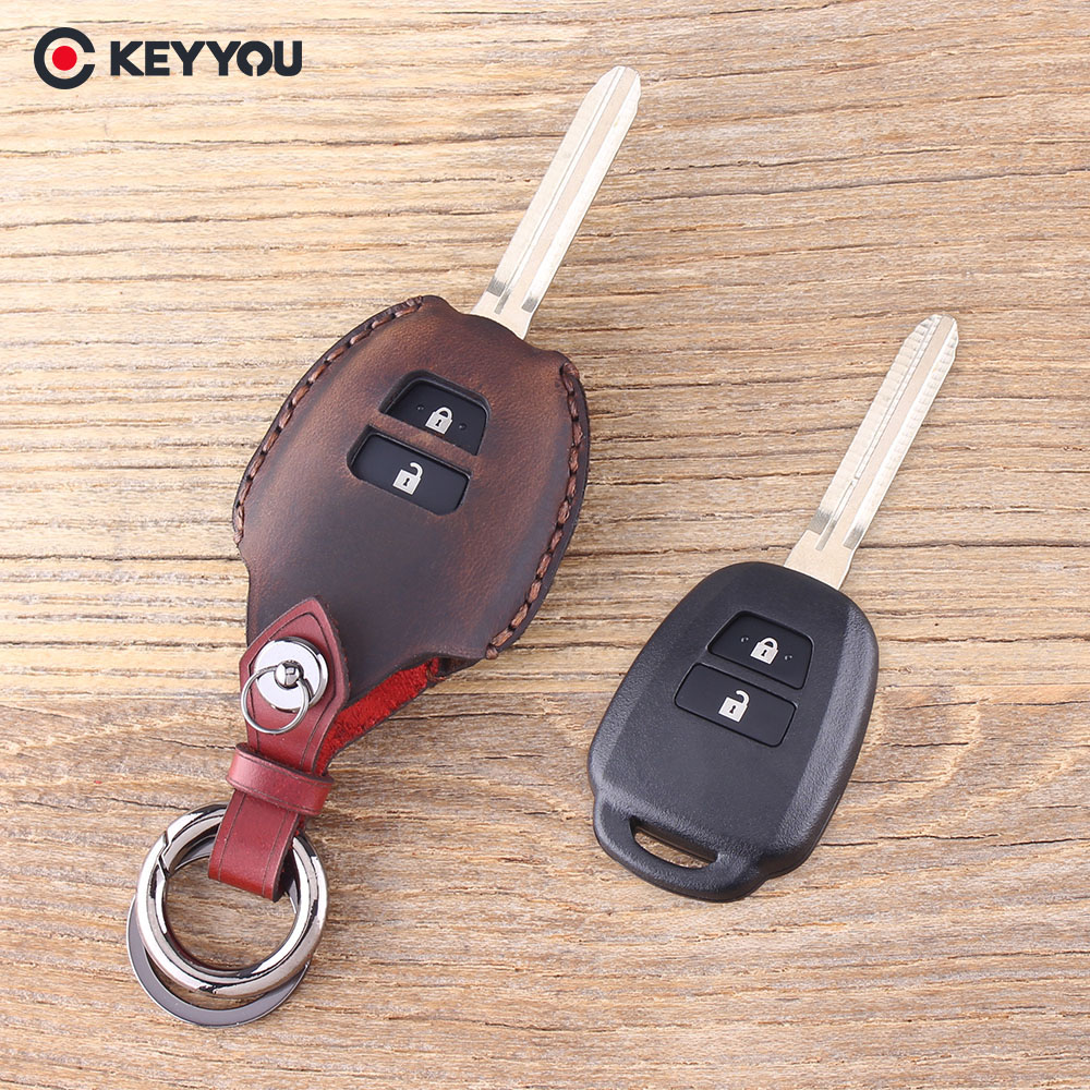 2Pcs Silicone Car Key Cover Remote Fob Case For Toyota Camry ...