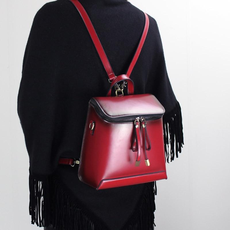 2018 handmade original genui leather Shoulder Messenger Shoulder Messenger backpack college wind Japan and South Korea ежедневник japan and south korea 520