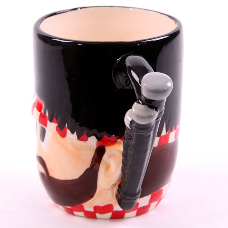 Cartoon Style Ceramic coffee cup Novelty Scottish Piper Mug Scotland Gemdarme Mug Gift Boxed
