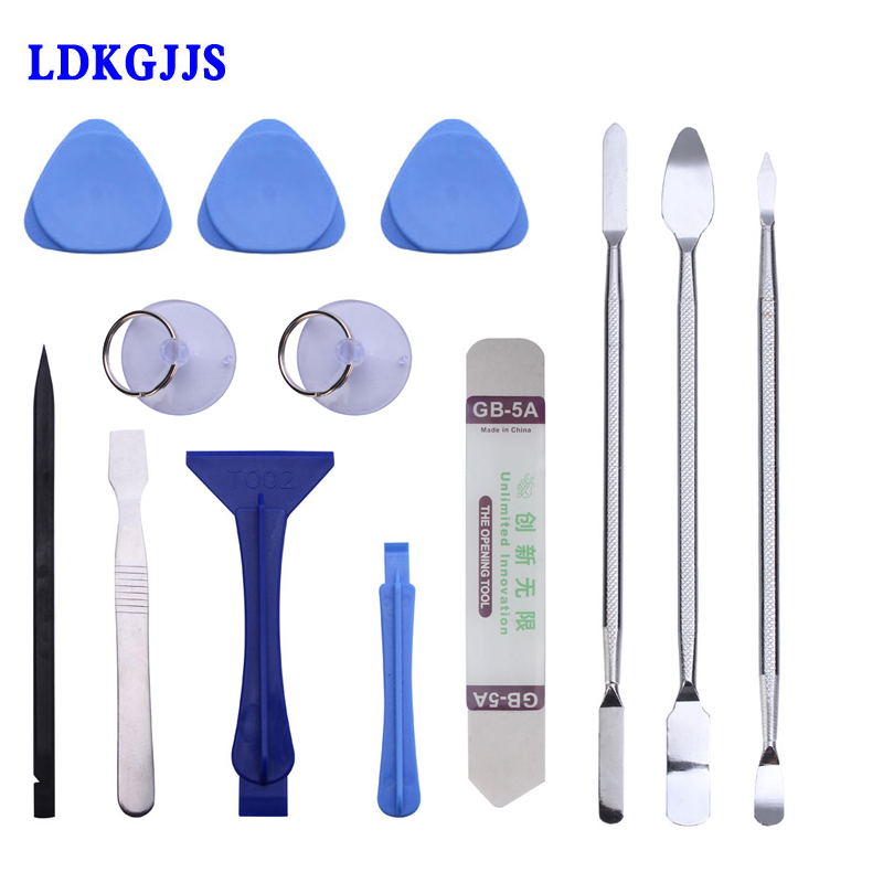 13 in 1 Metal Spudger Mobile Phone Repair Tools Kit Spudger Pry Opening Tool For iPhone iPad Samsung Cell Phone Hand Tools Set