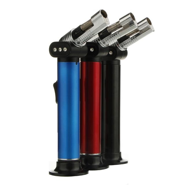 Refillable Butane Gas Lighter Torch Jet Lighters Flame Welding Gun