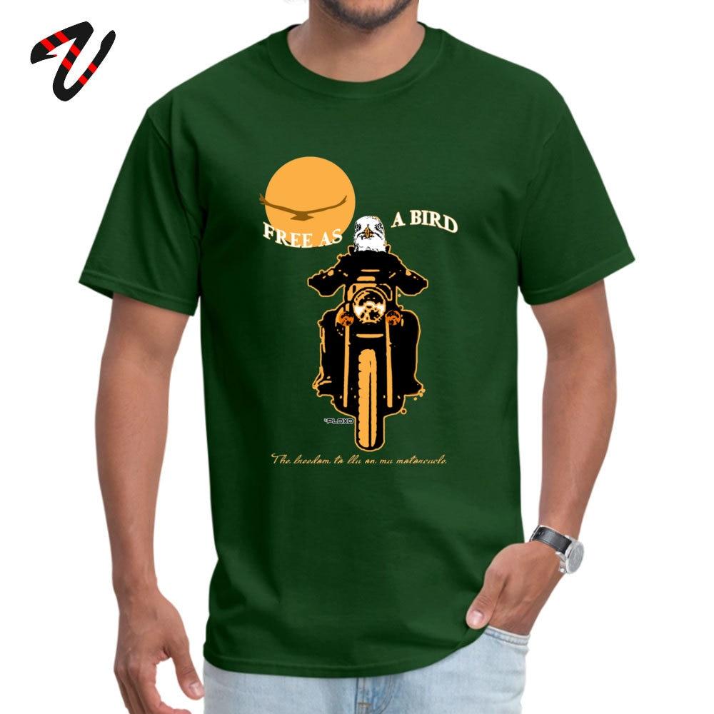 Free as a bird Funny Summer 100% Cotton Round Neck Boy Tops T Shirt Camisa Top T-shirts Cute Short Sleeve T-Shirt Free as a bird -2283 dark