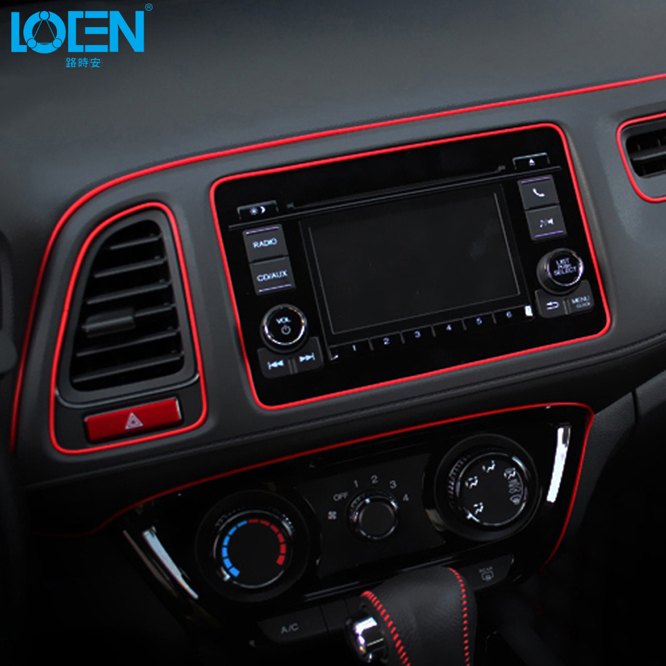 Loen Car Styling 5M/pcs Universal DIY Flexible Interior Moulding Trim Central Control