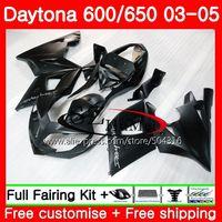 Body For Triumph Daytona 650 600 02 03 04 05 Daytona600 86SH1 Daytona650 Daytona 600 2002 2003 2004 2005 Matte black Fairings