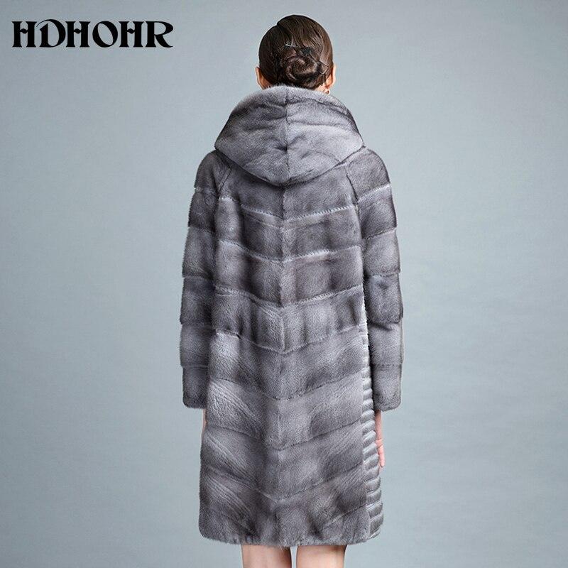 Femmes Hdhohr Vison Épais Réel 2018 Vestes Solide Chaud De D'hiver Fourrure Manteaux Long Femelle Gray Iron Naturel New Parkas Véritable À 4r0wqWf4
