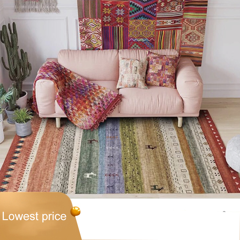 Nordic Moroccan Ethnic Geometric Kilim livingroom Carpets Simple Bedroom Living Room Carpet Bedside Blanket Study Mat