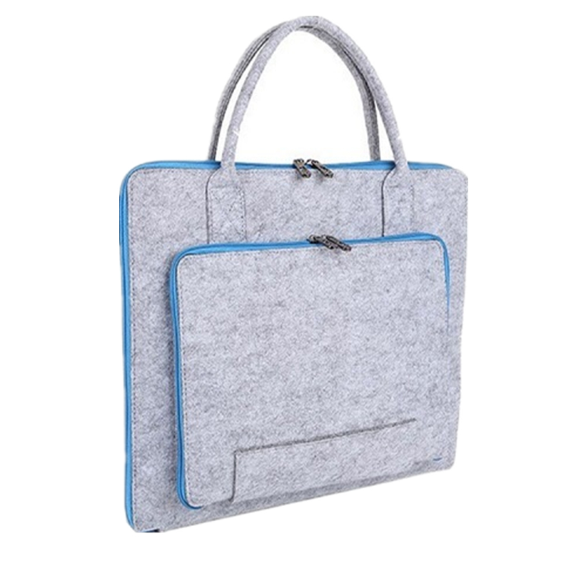 Wholesale Wool Felt  Fashion Portable Slim Laptop Bag 10'' 11'' 13'' 15''  Inch  Laptop Sleeve Bag With Handle For Men Women
