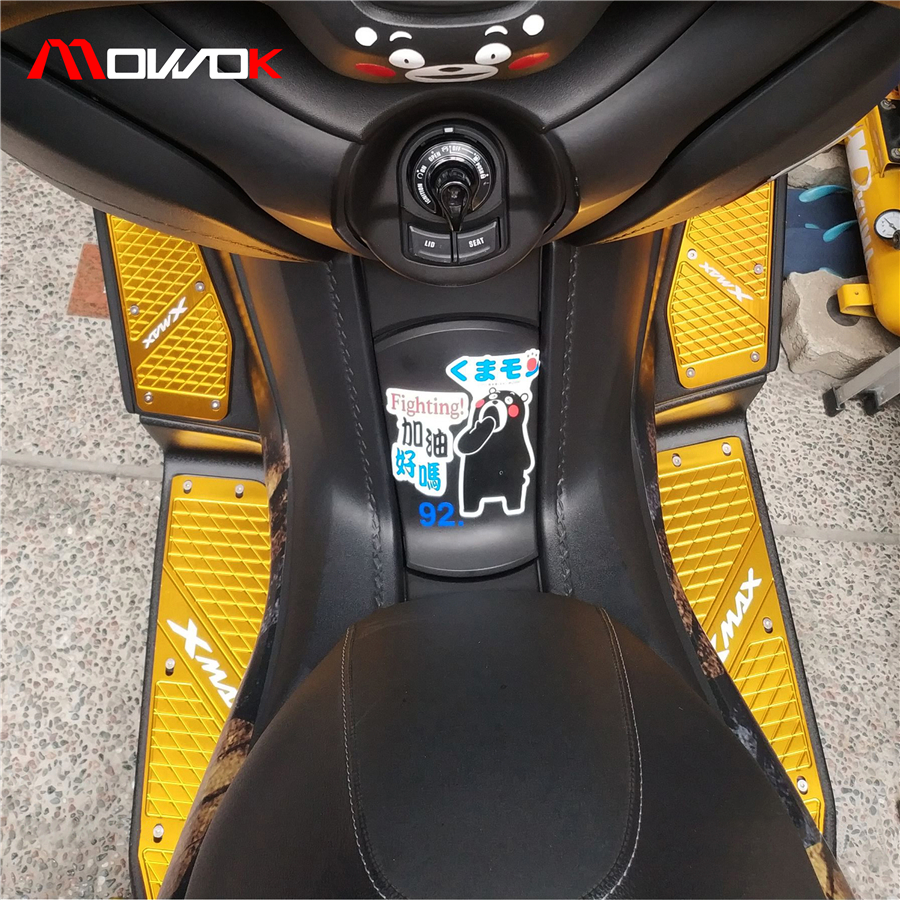 Motorcycle Accessories High Quality CNC logo Foot Pegs plate Footrest Step pad For YAMAHA XMAX 250