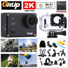 Gitup Git2P WiFi 2K Full HD 1080P 170 Diploma Vast Angle Waterproof Video HDMI Mini Motion Sports activities Digicam +18pcs Equipment Kits