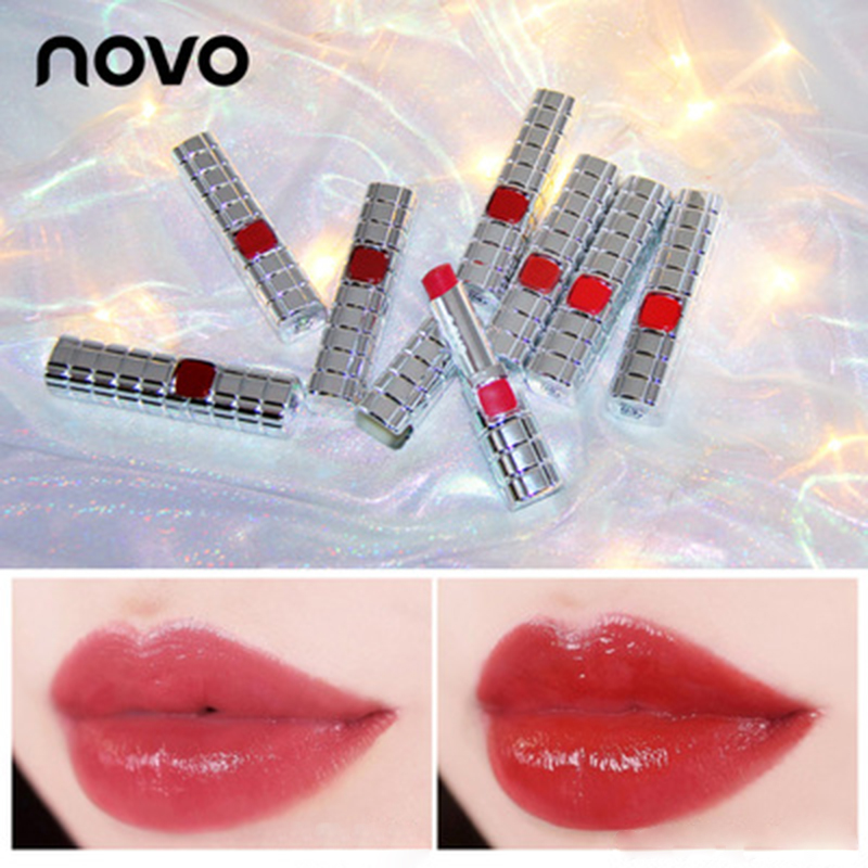 NOVO Brand lipstick 8colors velvet makeup Korean cosmetics lasting lip stick waterproof lip balm Moisturize Waterproof lip gloss