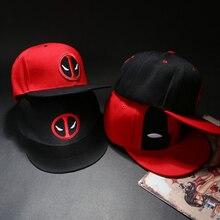 Аниме дэдпул вышивка хип-хоп Snapback шляпа хлопок Повседневная плоская бейсболка для мужчин и женщин Gorras Повседневная кость подарок на день рождения