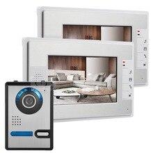 """DIYSECUR 7 """"LCD Video Puerta Timbre Del Teléfono de Intercomunicación 1 Cámara 2 Monitor Compatible Con Cerradura Eléctrica"""