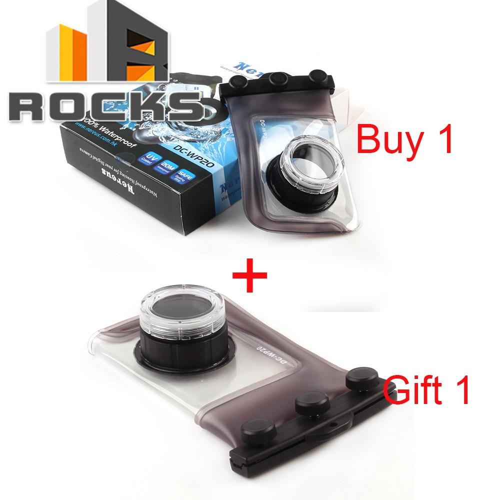 For Nereus 20M Waterproof Camera Housing Protect Case WP-20 Suit For Canon nereus 10 meter waterproof housing kit for digital camera dc wp20