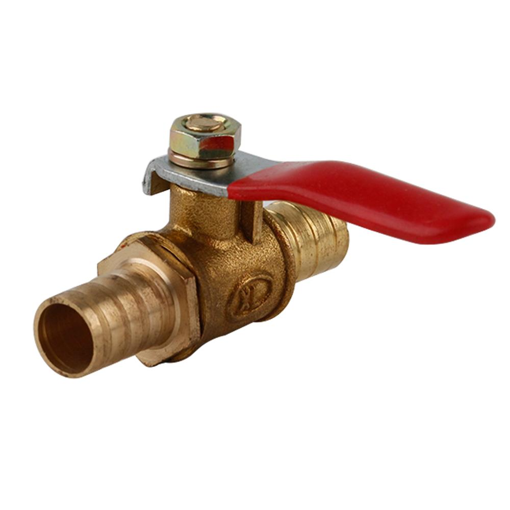 Pipe Fitting Copper 6 12mm Air Gas Fuel Line Shutoff Valve Hose Barb Inline Brass Water Oil Pipe Fittings in Pipe Fittings from Home Improvement