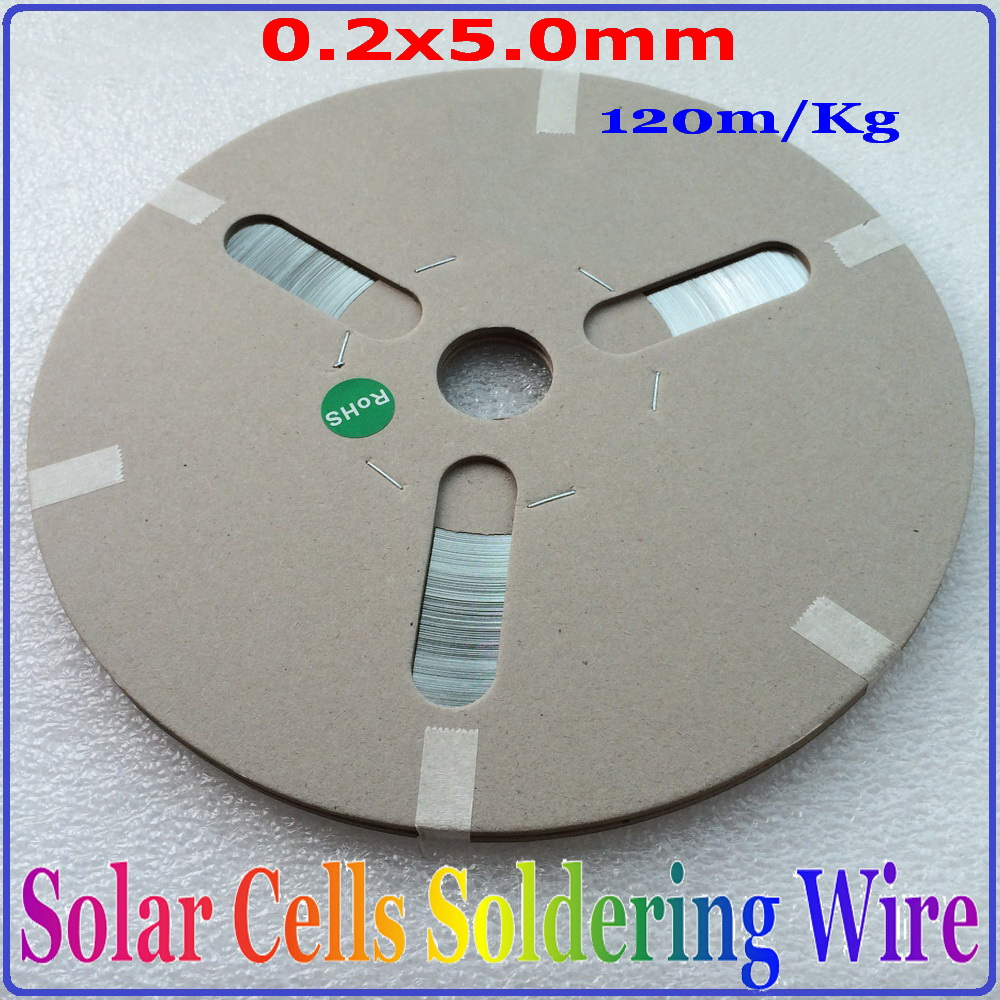 0.2*5.0mm 120m/Kg Busbar Wire for leading the current from solar panel, Solar Cell Tabbing Wire, PV Ribbon 1kg leady solar tabbing wire pv ribbon wire size 2x0 15mm 2x0 2mm 1 8x0 16mm 1 6x0 15mm 1 6x0 2mm etc solar cells solder wire