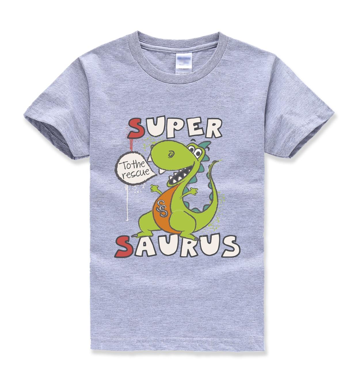 Cartoon grappige kawaii dinosaurus tops tee zomer kids korte mouw - Kinderkleding
