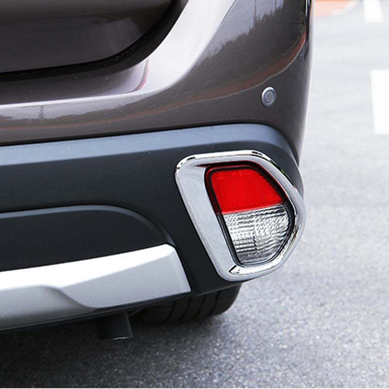 Free Shipping High Quality ABS Chrome Rear Fog lamps cover Trim Fog lamp shade Trim For Mitsubishi Outlander
