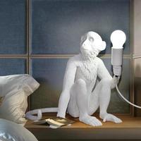 Современные висит кулон лампы обезьяна огни Винтаж пеньковая веревка подвесной светильник домашнего освещения Кафе Ретро лампа висит куло