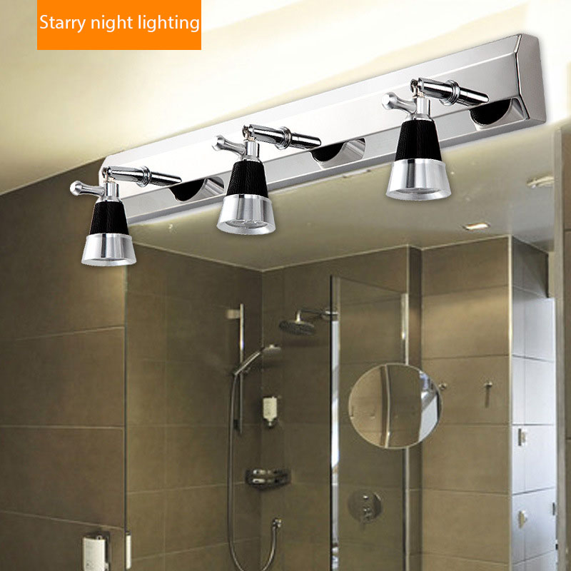 23 plugs modern stainless steel bathroom mirror lights toilet lamps cabinet wall lamp cheap vanity lighting