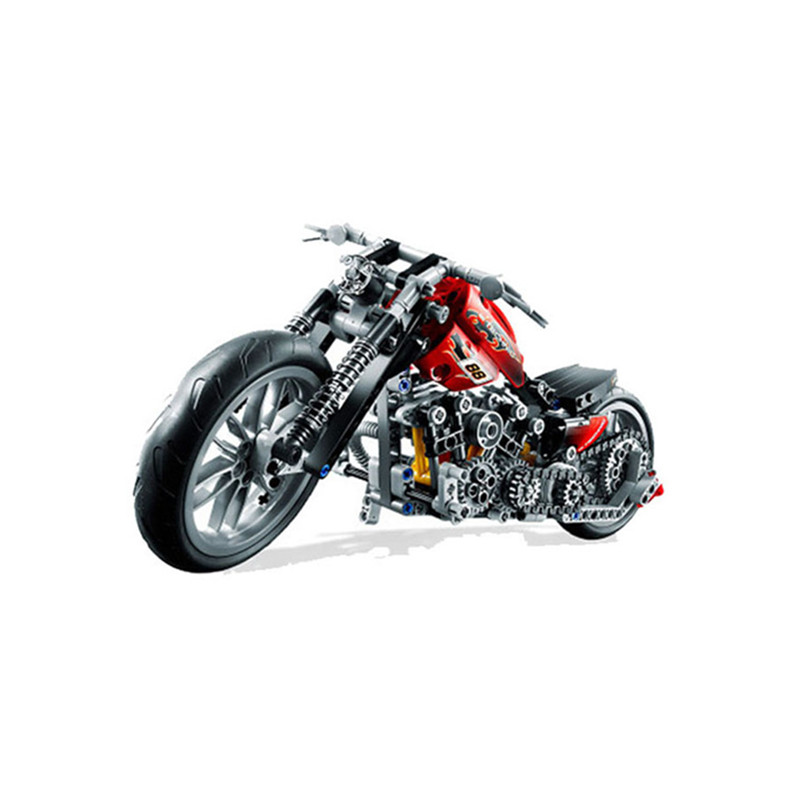 Dropshipping 3354 Exploiture Speed Racing Motorcycle Building Blocks Model Sets 378pcs Bricks Educational Toys For Kids Gift