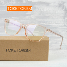 Toketorism retro optical glasses woman spectacle frames for men grade with clear lenses 0219