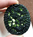 Natural Stone Black Green Jade Carved Chinese Coin Dragon Lucky Blessing Pendant + Rope Necklace Fine Jade Jewelry wholesales