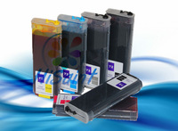 Refillable ink cartridge for HP 72 with ink (280ml/bottles) with ARC chips for HP72 T610 T1100