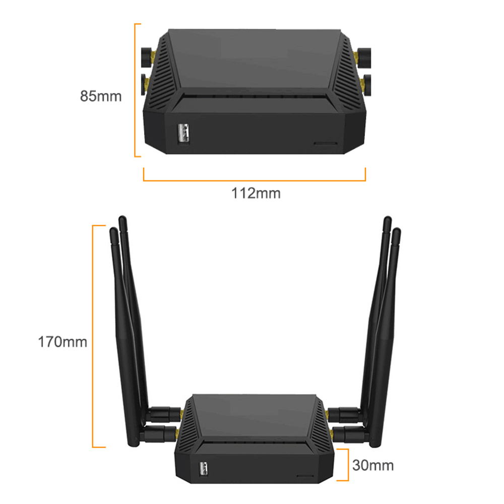 Cioswi Router Modem 4g 3g Wifi With Sim Card Slot 300Mbps 4G Mobile Router Sim Wifi Wireless Router Repeater With 4*5dBi Antenna