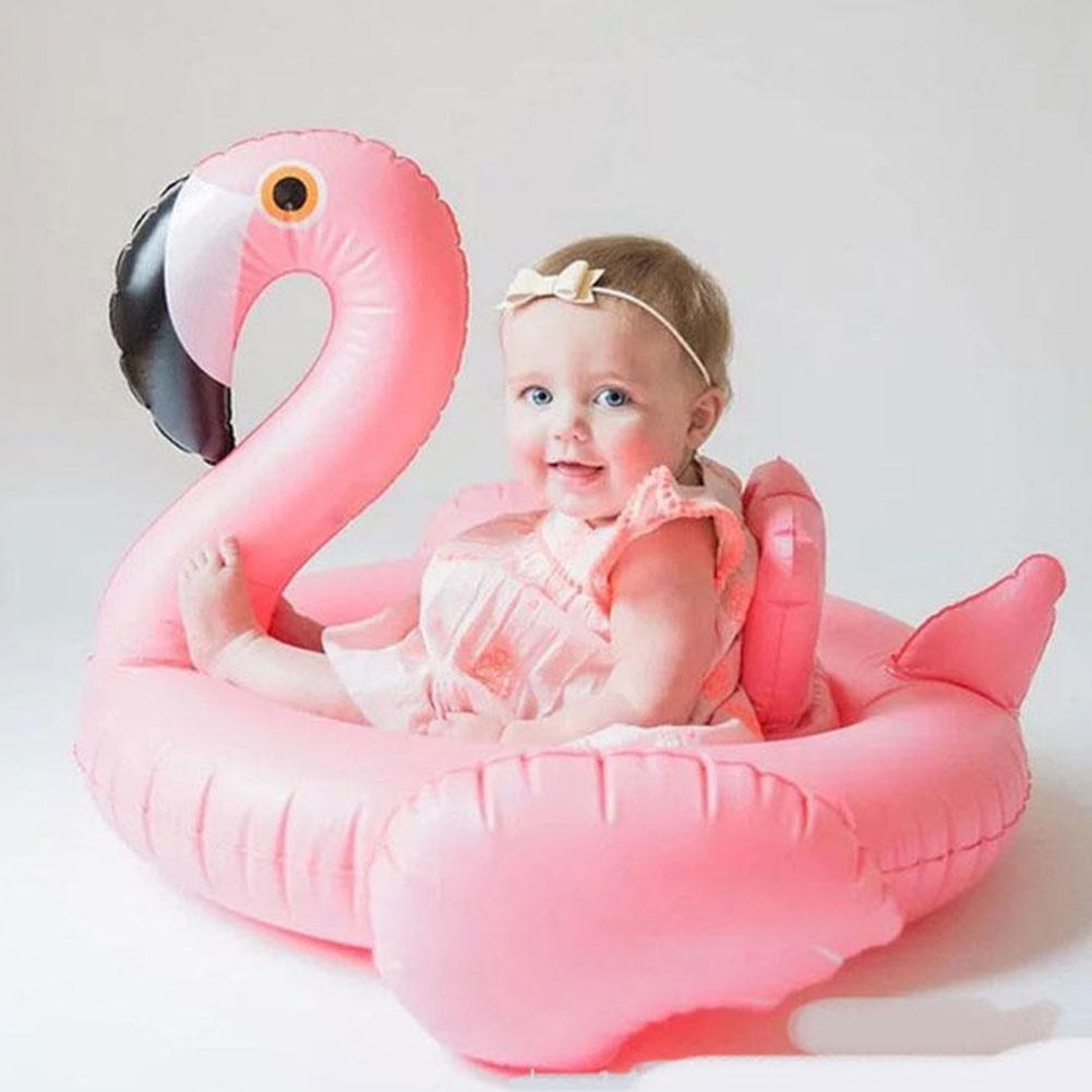 Baby Inflatable Flamingo Swan Airplane Shape Pool Float Swimming Pool Water Toy Children Floating Seat Ride-On Swimming Ring
