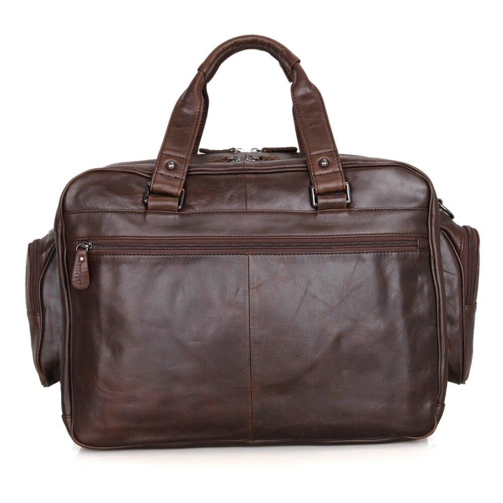 J.M.D Nieuwe collectie Manly Real Leather Trendy Reistassen Handtas - Trolley en reistassen - Foto 3