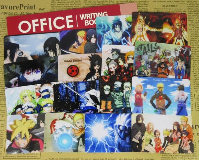105pcs Naruto Series Card Stickers Character Sasuke Sakura