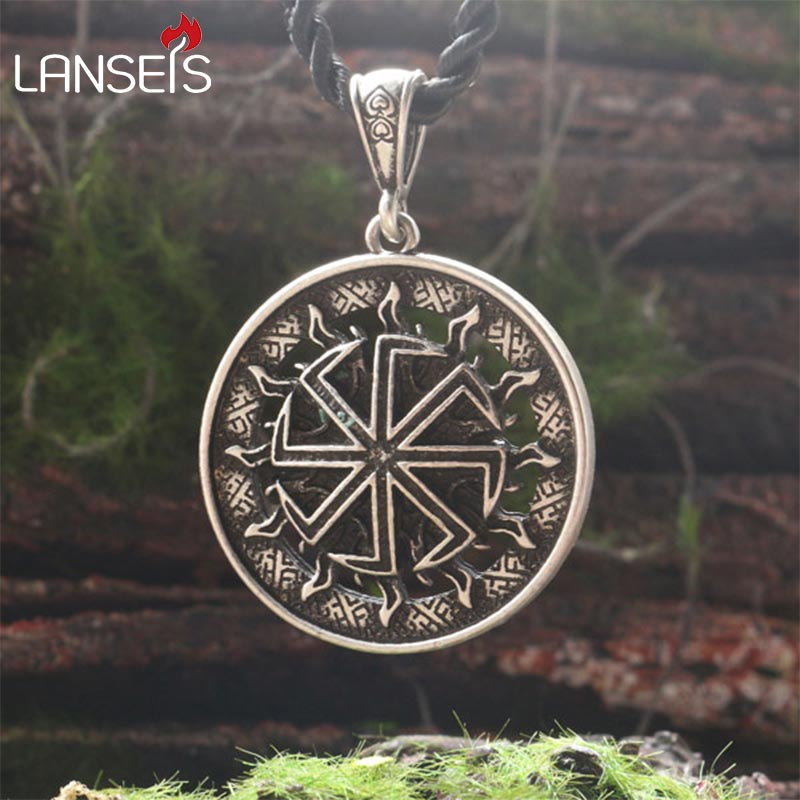 1pcs Sun Wheel Slavic Amulet Lucky Burdock Ancient Slavic