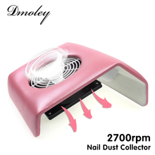 220V Nail Art Salon Suction Dust Collector Manicure 2700Rpm Filing Acrylic UV Gel Tip Machine Vacuum Cleaner Salon Tool EU Plug