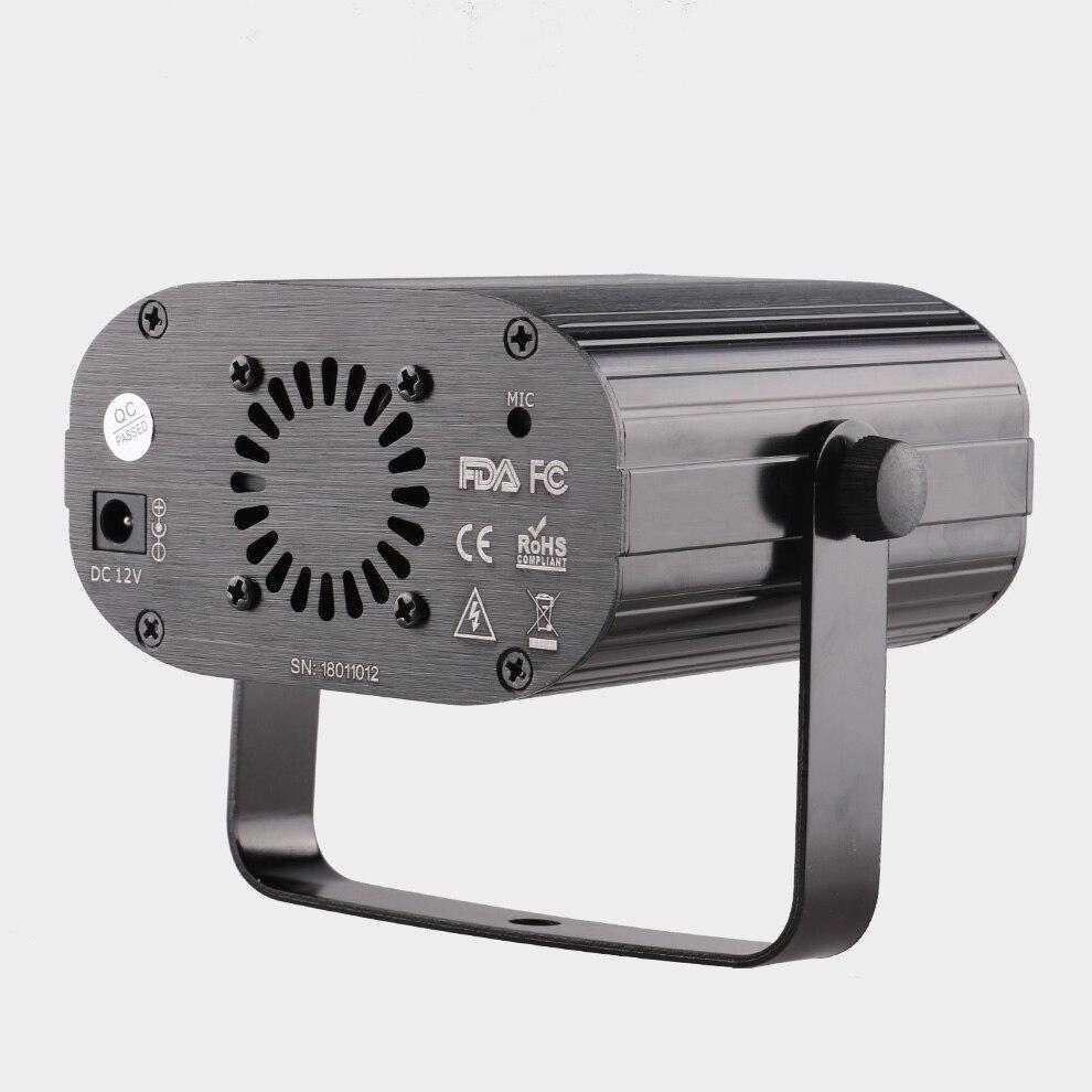 Инопланетный пульт 128 узоры RGB DJ лазерный проектор сценический светильник ing Эффект диско клуб Рождество вечерние праздничное шоу светильни... - 3
