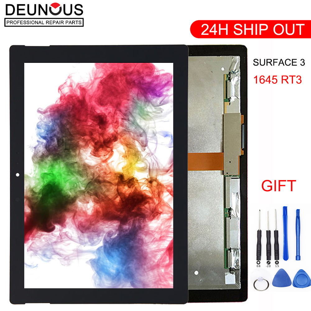 New 10.8 inch LCD Complete For Microsoft Surface 3 1645 RT3 lcd display touch screen digitizer Assembly panel generationNew 10.8 inch LCD Complete For Microsoft Surface 3 1645 RT3 lcd display touch screen digitizer Assembly panel generation