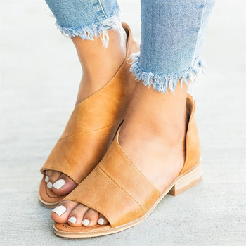 Women Sandals For Summer Causal Shoes Woman Peep Toe Low Heels Sandalias Mujer 2019 Plus Size 35-43 Summer Shoes Female