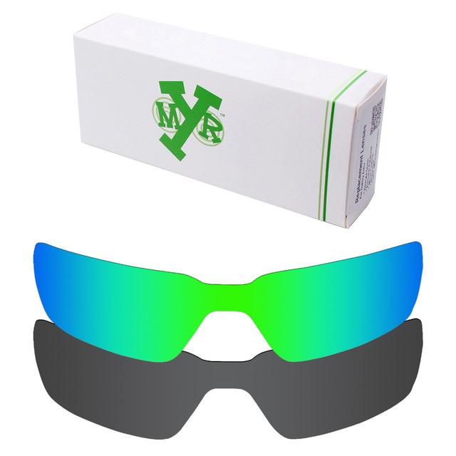 2 Шт. MRY ПОЛЯРИЗОВАННЫХ Сменные Линзы для Пробации Солнцезащитные Очки Oakley Stealth Black и Изумрудно-Зеленый