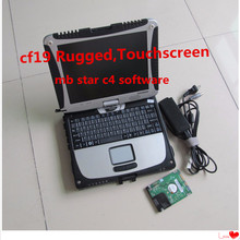 mb star c4 software HDD V2017.05 in Car Diagnostic Laptop for Panasonic Toughbook cf 19 (Rugged,Touchscreen) free shipping