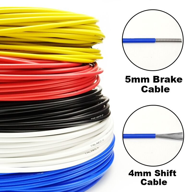 3 Meters Wire For Bicycle Shifters Derailleur Brake Cables Shift Cable Tube 4mm/5mm MTB Road Bike Shifter Brake Cable Line Pipe