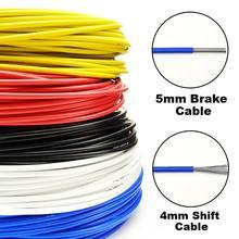3 metros de fio para a bicicleta shifters desviador cabos de freio shift cabo tubo 4mm/5mm mtb estrada bicicleta shifter cabo de freio linha tubo