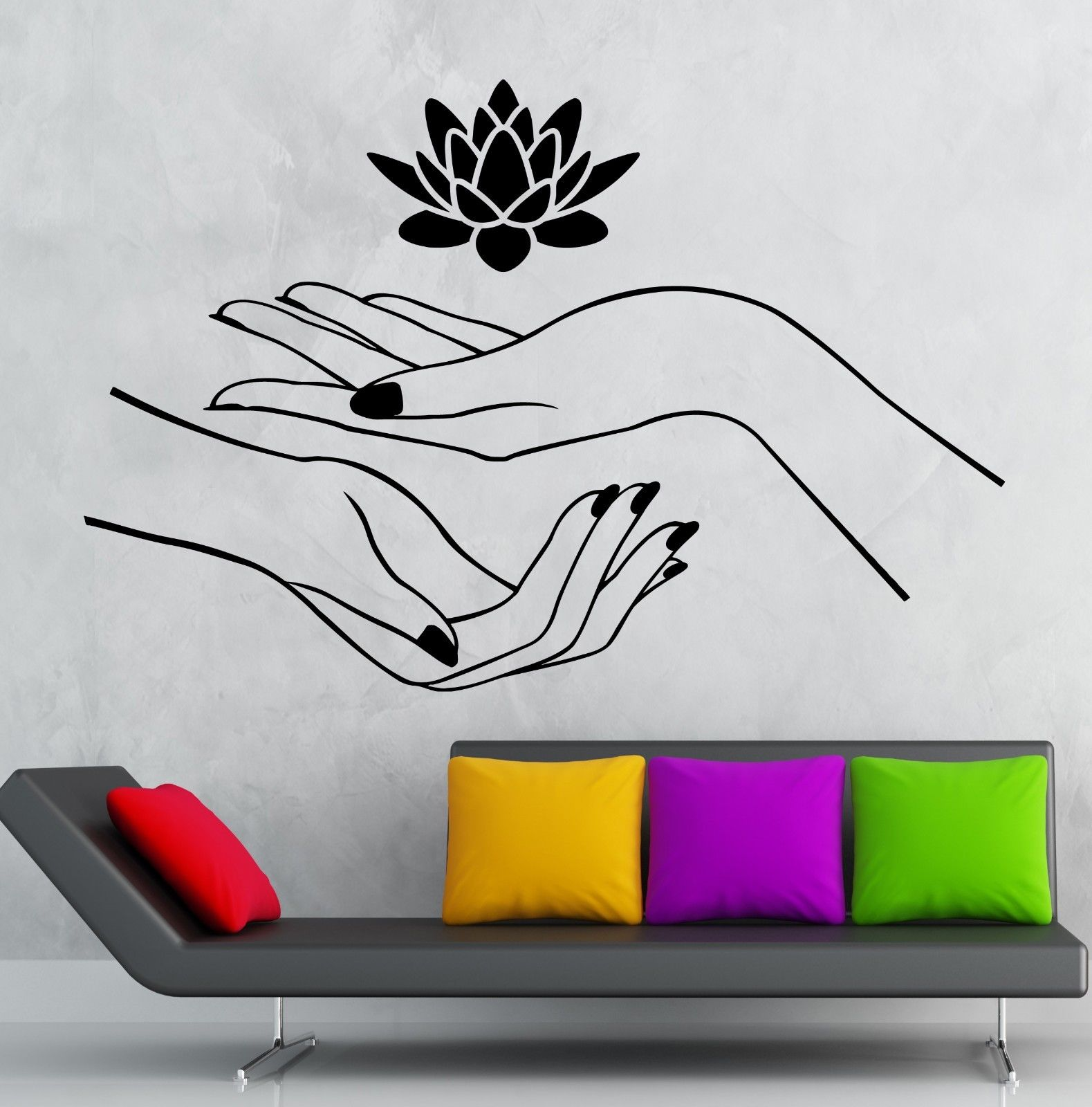 ୧ʕ ʔ୨fashion House Lotus Wall 【】 Stickers Stickers Hands