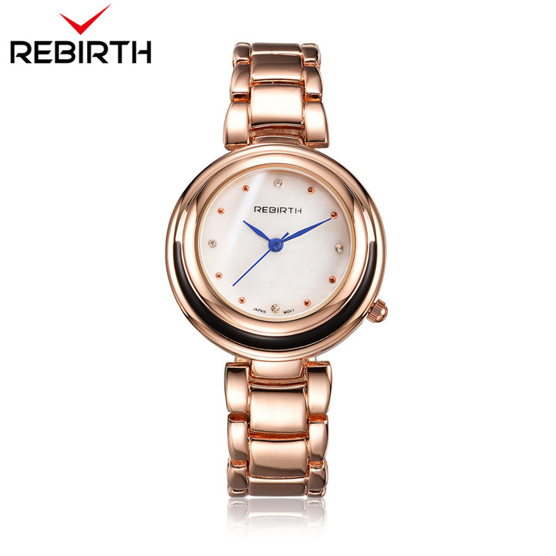 REBIRTH Steel Strap Kvinder ure Casual Ladies Watches Topmærke - Dameure - Foto 2
