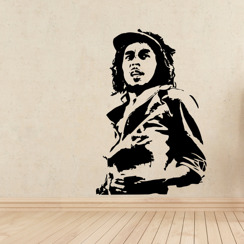 Bob Marley Wall Stickers for Kids Rooms Wall Decals Living Room ...